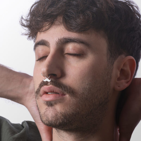 mustache septum piercing