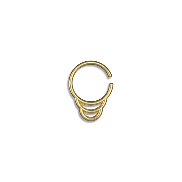 double silver septum ring