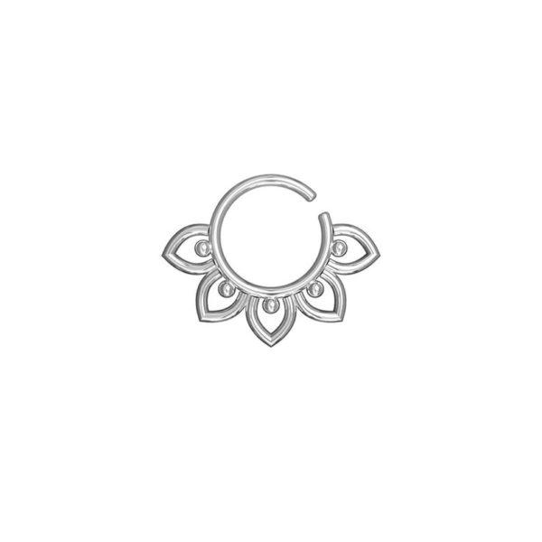 flower septum piercing