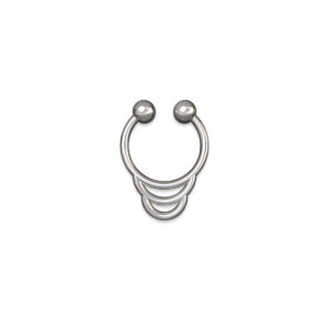 faux silver septum ring
